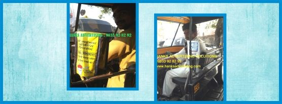 rickshaw auto metercover advertising